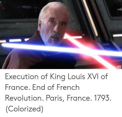 France, Paris, and Revolution: Execution of King Louis XVI of France. End of French Revolution. Paris, France. 1793. (Colorized)