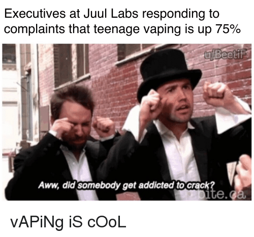 Executives at Juul Labs Responding to Complaints That