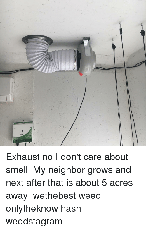 Exhaust No I Don't Care About Smell My Neighbor Grows and