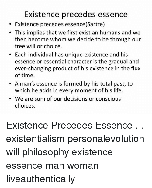 sartre existence comes before essence