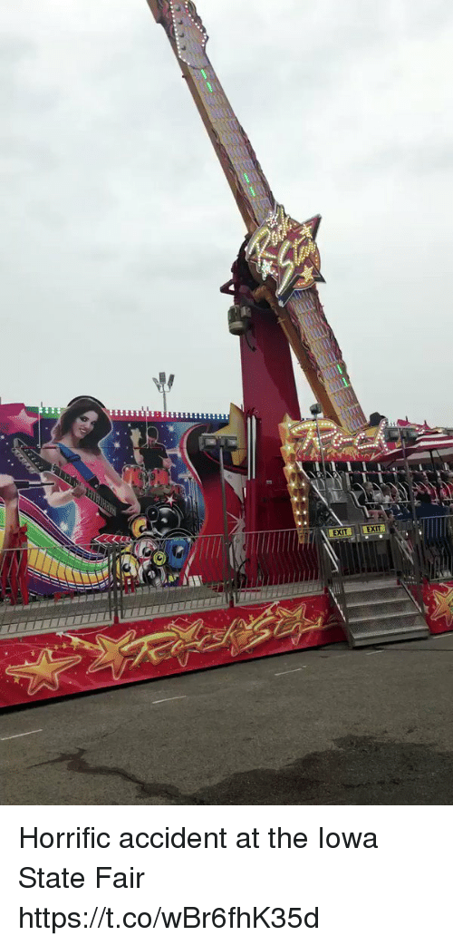 Funny, Iowa, and Iowa State: EXIT EXI Horrific accident at the Iowa State Fair https://t.co/wBr6fhK35d