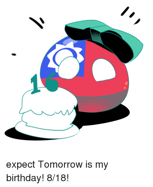 tomorrow is my birthday