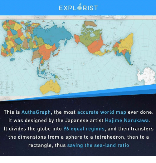Expl Rist This Is Authagraph The Most Accurate World Map Ever Done