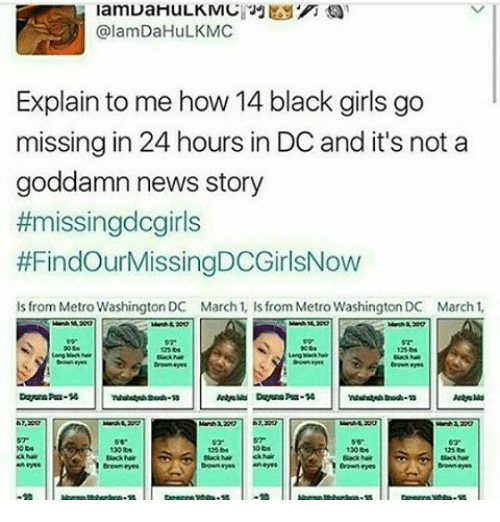 Explain to Me How 14 Black Girls Go Missing in 24 Hours in