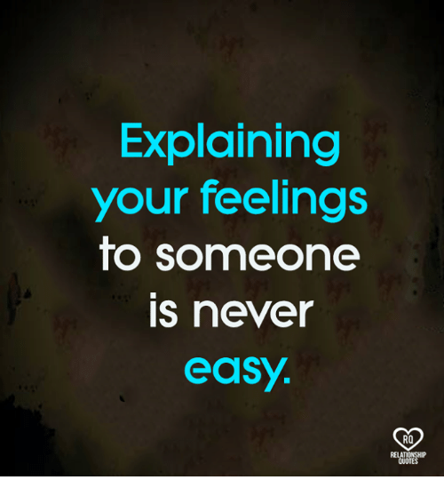 how to explain your feelings