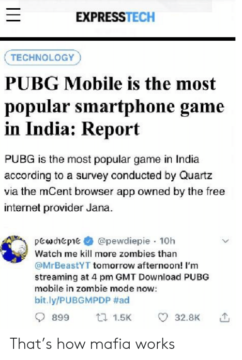 Expresstech Technology Pubg Mobile Is The Most Popular Smartphone
