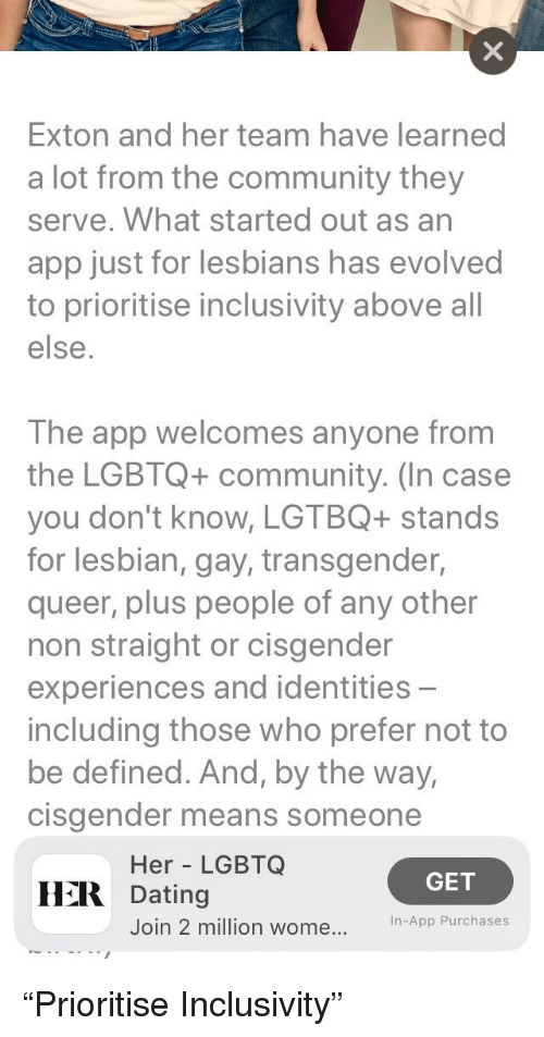 just for lesbians