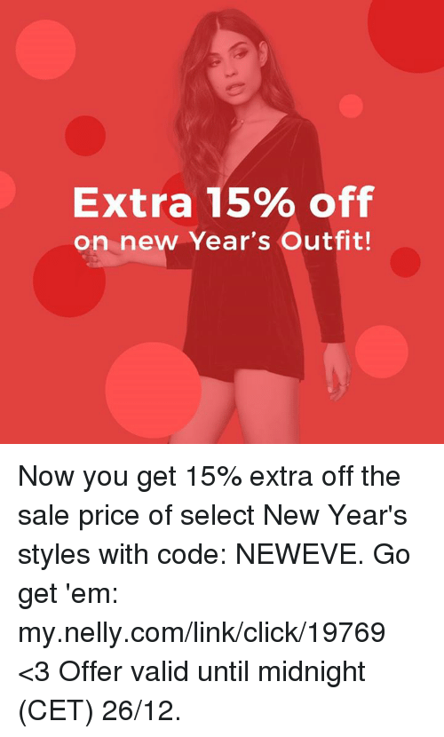 Extra 15% Off on New Year s Outfit! Now You Get 15% Extra Off the ... 8ce43ca99efbe