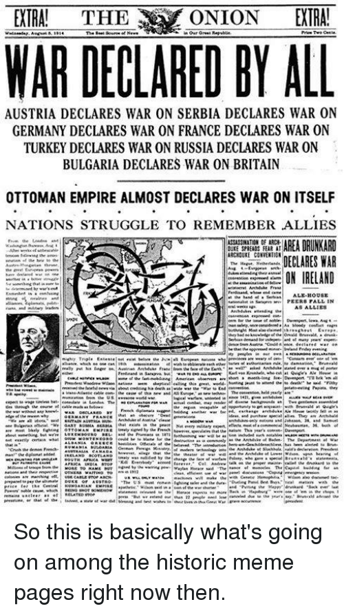 Extra The Onion Extra War Declared By All Austria Declares War On
