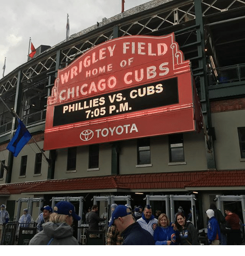 EY FIELD CHICAGO CUES PM TOYOTA | Chicago Meme on ME ME