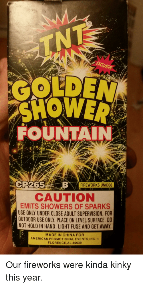 Adult only material golden showers