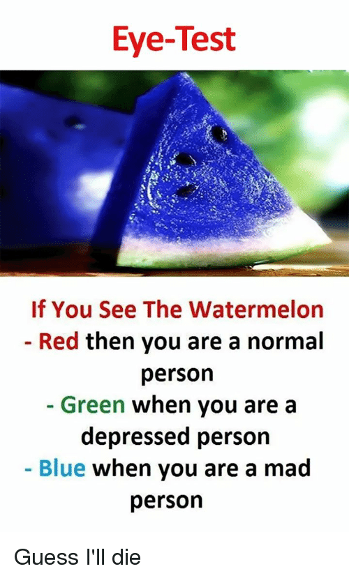 Eye-Test if You See the Watermelon Red Then You Are a Normal