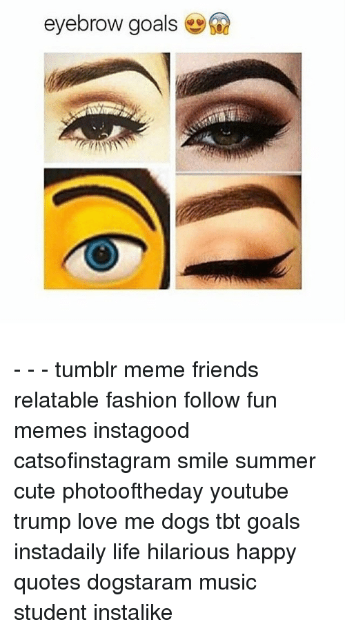 Eyebrow Goals Tumblr Meme Friends Relatable Fashion Follow Fun