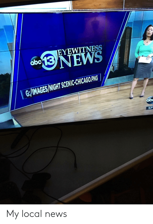 Abc, News, and Local: EYEWITNESS  abc  GMAGES/NIGHT SCNC CHICAGRPINS  ab  57 My local news