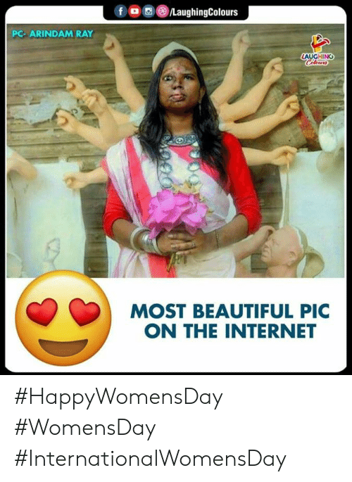 Beautiful, Internet, and Indianpeoplefacebook: f/LaughingColours  PC- ARINDAM RAY  LAUGHING  MOST BEAUTIFUL PIC  ON THE INTERNET #HappyWomensDay #WomensDay #InternationalWomensDay
