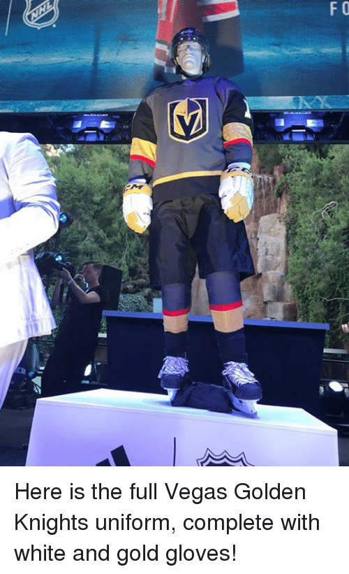 competitive price 9dcdb ac2ca F O Here Is the Full Vegas Golden Knights Uniform Complete ...