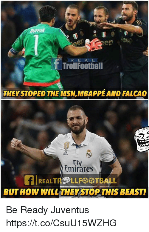 F R Football Troll They Stoped The Msn Mbappeand Falcao Emirates