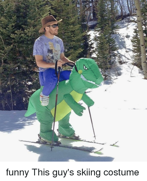 Memes, 🤖, and Ski: fa  vy funny This guy's skiing costume