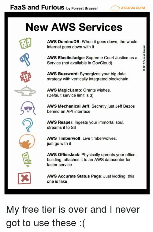 FaaS and Furious by Forrest Brazeal a CLOUD GURU New AWS Services