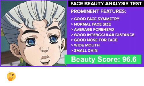 FACE BEAUTY ANALYSIS TEST PROMINENT FEATURES GOOD FACE