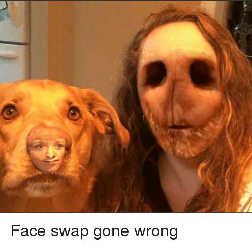 Face Swap, Gone, and Face: Face swap gone wrong