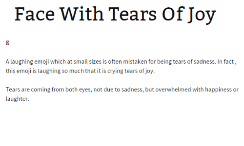 Face With Tears of Joy a Laughing Emoji W Hich at Small Sizes Is ... c0b9ec017864b
