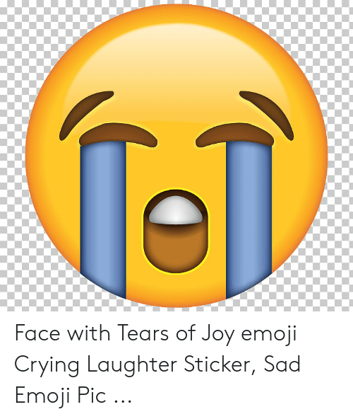 Face With Tears of Joy Emoji Crying Laughter Sticker Sad ...