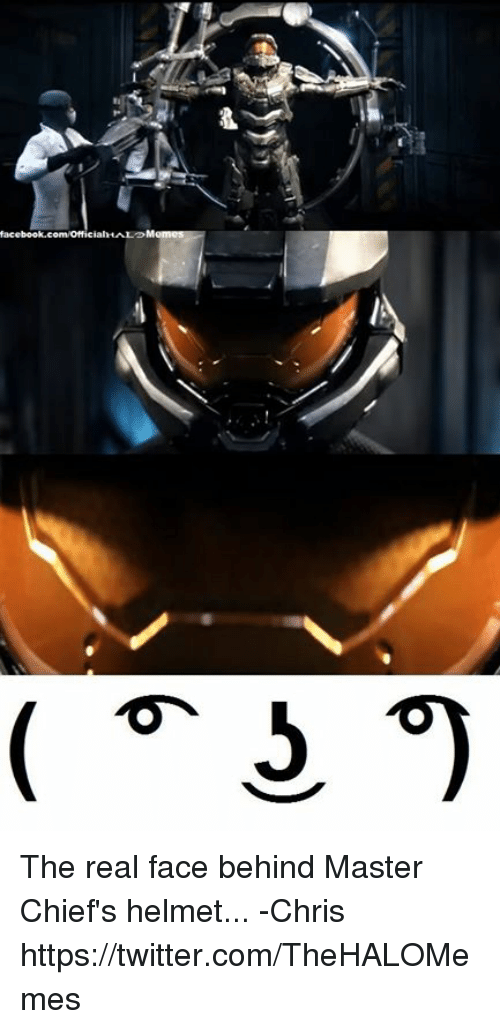 Facebook か The Real Face Behind Master Chief S Helmet