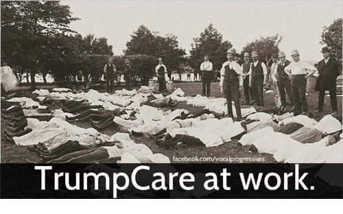 Memes, 🤖, and Trumpcare: facebook.com/vocalprogressives  TrumpCare at work