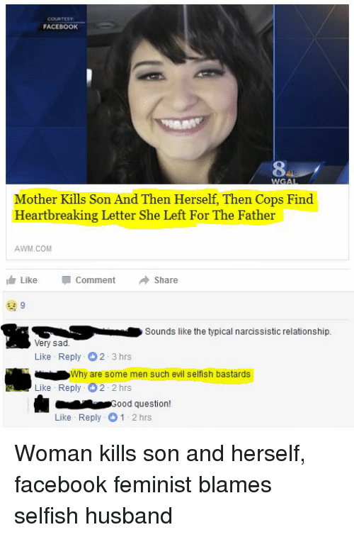 FACEBOOK Mother Kills Son and Then Herself Then Cops Find