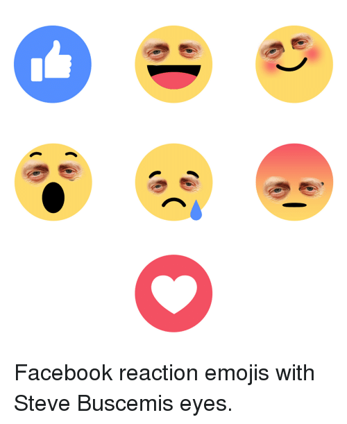 Emoji Facebook And Funny Facebook Reaction Emojis With Steve Buscemis Eyes