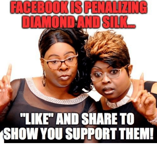 """Them, You, and Show: FACEBOOKIS PENALIZING  """"LIKE"""" AND SHARE TO  SHOW YOU SUPPORT THEM!"""