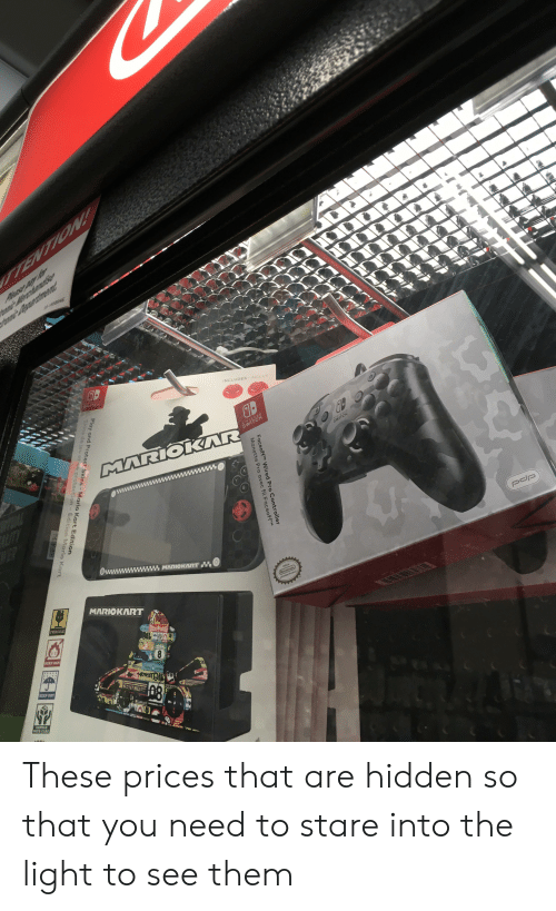 Mario Kart, Mario, and Wired: FaceoffTM Wired Pro Controller  Manette Pro avec fil Faceo  Play and Protect Skins-Mario Kart Edition These prices that are hidden so that you need to stare into the light to see them