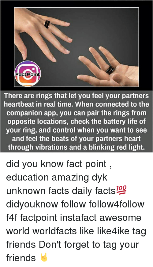 facepoint there are rings that let you feel your partners heartbeat