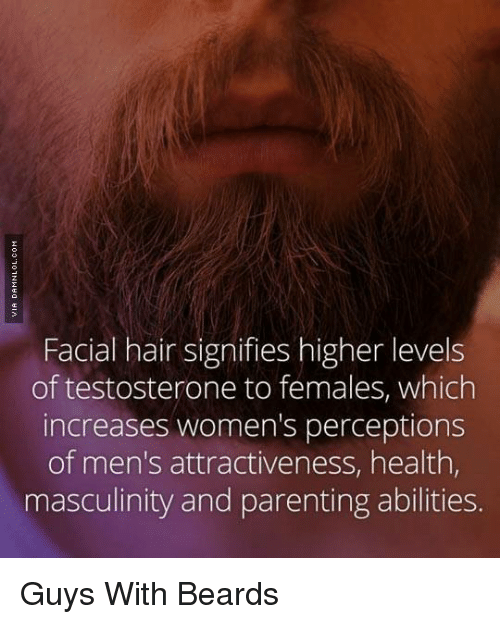 Memes, 🤖, and Health: Facial hair signifies higher levels of testosterone  to females
