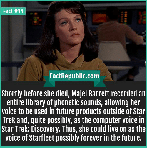 fact 14 fact republic com shortly before she died majel barrett 22187251 fact 14 fact republiccom shortly before she died majel barrett