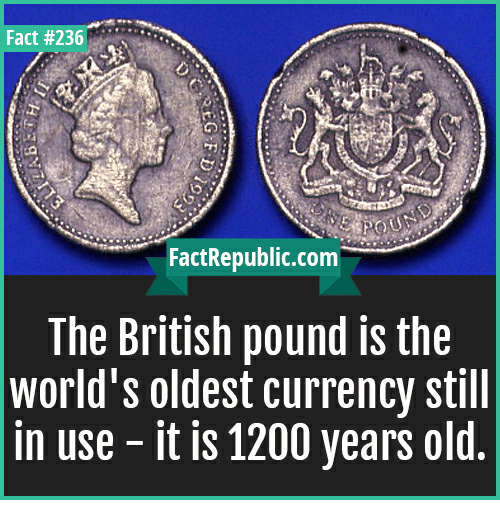 Image result for The British Pound is the world's oldest currency still in use.