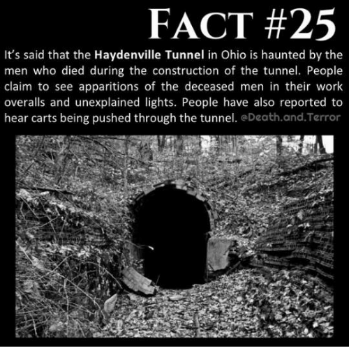 Fact 25 Its Said That The Haydenville Tunnel In Ohio Is Haunted By
