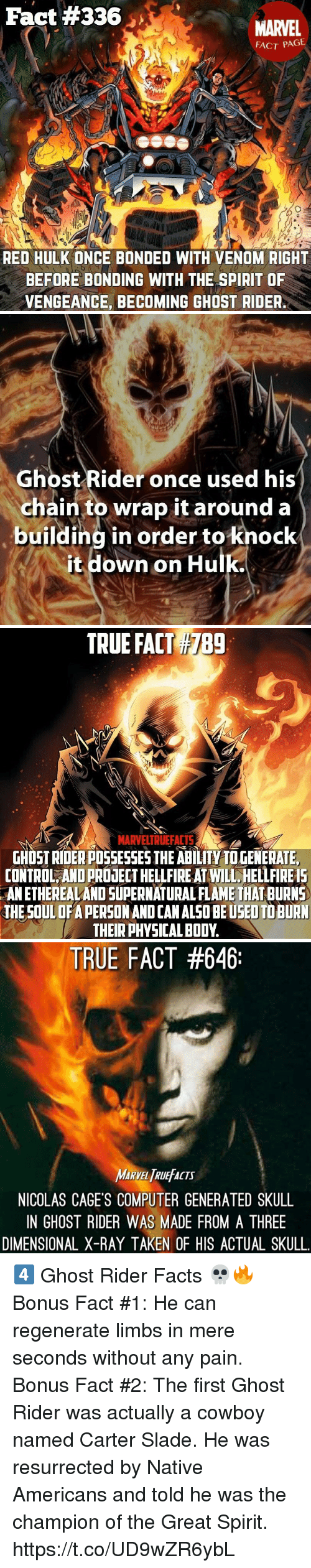 Fact #336 MARVEL FACT PAGE RED HULK ONCE BONDED WITH VENOM RIGHT