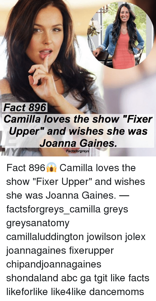 fact 896 camilla loves the show fixer upper and wishes 26525588 ✅ 25 best memes about joanna gaines joanna gaines memes