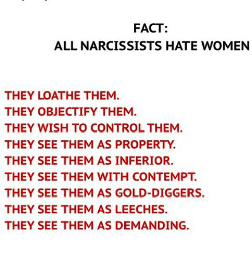 I hate narcissists