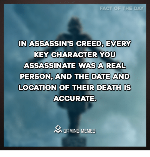 FACT OF THE DAY ASSASSINS CREED EVERY IN KEY CHARACTER YOU