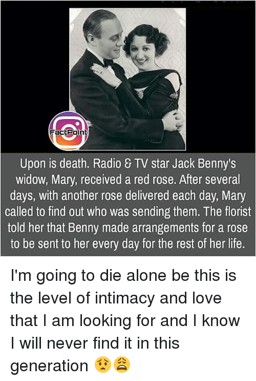 Fact Point Upon Is Death Radio TV Star Jack Benny's Widow