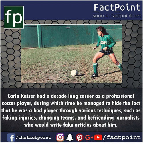 FactPoint Source Factpointnet Carlo Kaiser Had a Decade Long