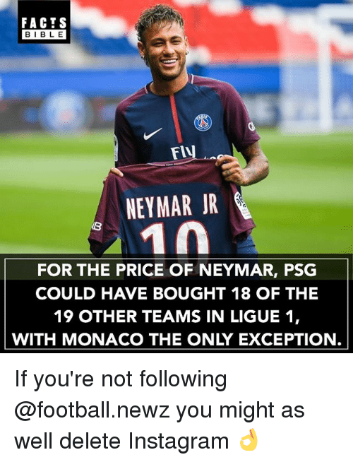 Facts Football And Instagram Facts Bible Flv Neymar Jr For The Price Of