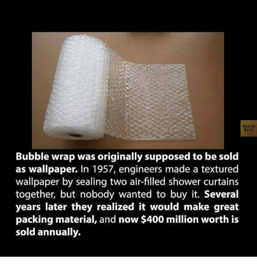 Memes Curtains And Seal Facts Book Bubble Wrap Was Originally Supposed To Be