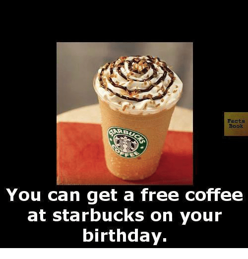 Starbucks Birthday Coffee Coffee Drinker