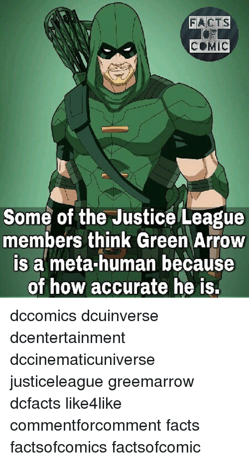 facts comic some of the justice league members think green arrow is