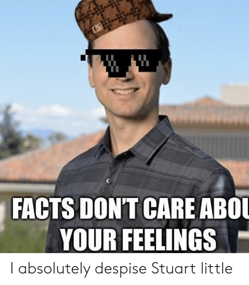 Facts Dont Care Abo Your Feelings I Absolutely Despise Stuart