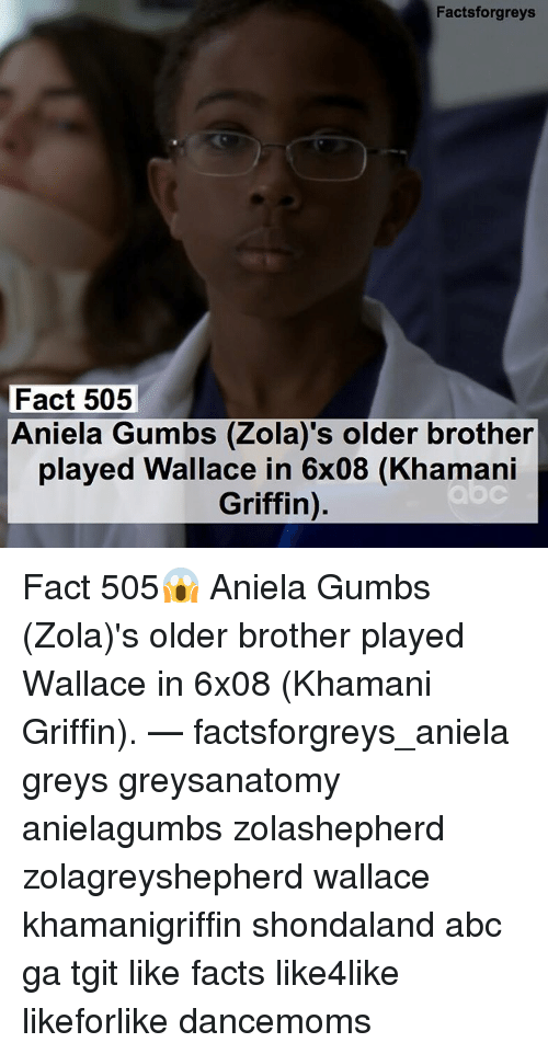Facts Forgreys Fact 505 Aniela Gumbs Zola\'s Older Brother Played ...